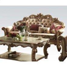 Gold Patina/bone Fabric Sofa