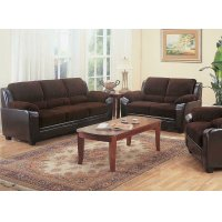 Monika Transitional Chocolate Two-piece Living Room Set Product Image