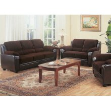 Monika Transitional Chocolate Two-piece Living Room Set
