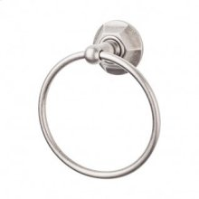 Edwardian Bath Ring Hex Backplate - Antique Pewter