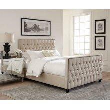 Saratoga Oatmeal Upholstered King Bed