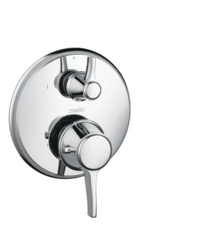 Chrome Thermostatic Trim with Volume Control, Round Product Image