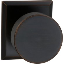 Interior Modern Knob Latchset with Rectangular Rose in (TB Tuscan Bronze, Lacquered)