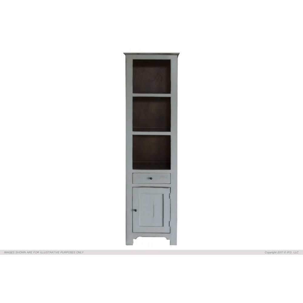 1 Drawer, 1 Door & 3 Shelves Bookcases, Ligh Gray finish