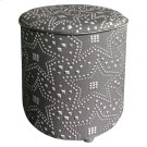 Constellation Ottoman Silver & Black Product Image