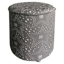 Constellation Ottoman Silver & Black
