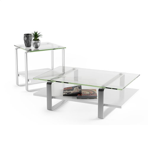 End Table 1646 in Smooth Satin White