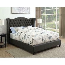 Newburgh Blue Grey Upholstered King Bed