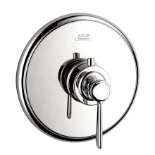 Chrome Thermostat HighFlow for concealed installation with lever handle