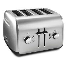 4-Slice Toaster with Manual High-Lift Lever Brushed Stainless Steel
