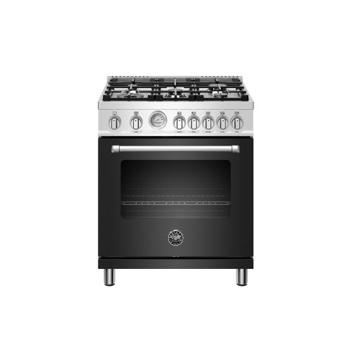 30 inch All Gas Range, 5 Burners Matt Black