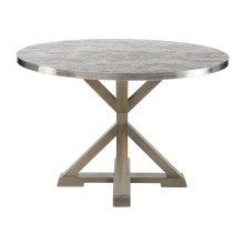 Stockton Round Metal Dining Table in Portobello