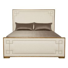 Queen-Sized Soho Luxe Upholstered Bed in Dark Caramel (368)