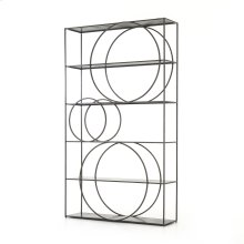 Gunmetal Finish Danielle Bookshelf
