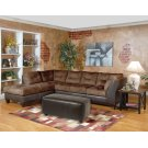 San Marino Chocolate / Padded Walnut Sectional Product Image