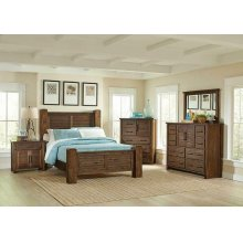Sutter Creek Rustic Vintage Bourbon Queen Bed