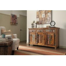 Transitional Reclaimed Wood Accent Cabinet