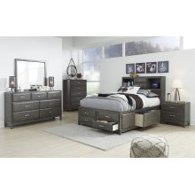 Caitbrook - Gray 5 Piece Bedroom Set