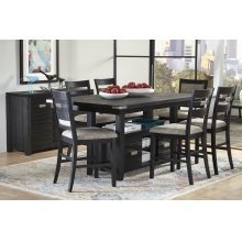 Altamonte Counter Height Dining Table With Four Ladderback Stools - Dark Charcoal