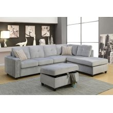 BELVILLE GRAY SECTIONAL SOFA