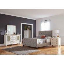 Palma Light Grey Upholstered Full Bed