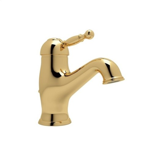 Italian Brass Arcana Single Hole, Single Lever Lavatory Faucet with Arcana Series Only Ornate Metal Lever