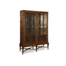 Angolo Leaded Glass Cabinet