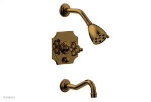 MAISON Pressure Balance Tub and Shower Set 164-26 - French Brass Product Image