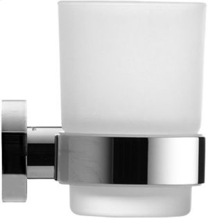 Chrome D-code Glass Holder Product Image