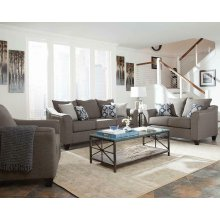 Salizar Transitional Grey Loveseat