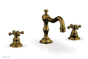 HENRI Widespread Faucet - Cross Handles 161-01 - French Brass Product Image