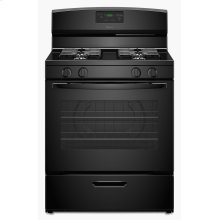30-inch Gas Range with Easy Touch Electronic Controls - Black