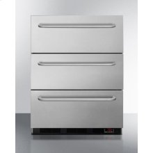 ADA Compliant 3-drawer Manual Defrost All-freezer In Stainless Steel, for Built-in or Freestanding General Purpose Use; Replaces Spf5dsstb5ada