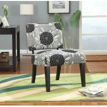 Casual White Grey and Black Accent Chair