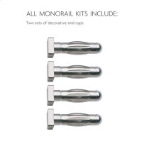 Monorail-Kits End Caps Monorail Surface Kit 150w