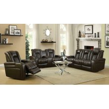 Delangelo Brown Power Motion Reclining Loveseat