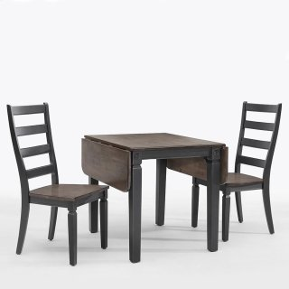 Glennwood Drop Leaf Table  Black & Charcoal