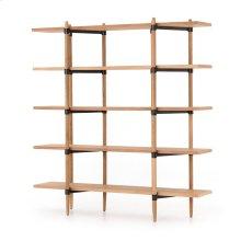 Holmes Bookshelf-smoke Drift Oak