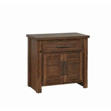Sutter Creek Vintage Bourbon One-drawer Nightstand With Two Doors