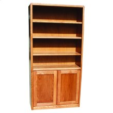 "Modern Oak 24"" & 36"" 2-Door Bookcase"
