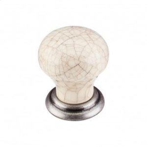 Ceramic Small Knob 1 1/8 Inch - Pewter Antique Product Image