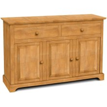 3 Door Buffet also Available with 3 Door Hutch (sku H-3B)