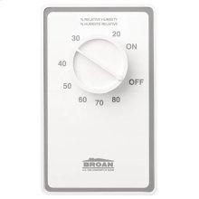 Dehumidistat Wall Control in White; Ventilation Fans