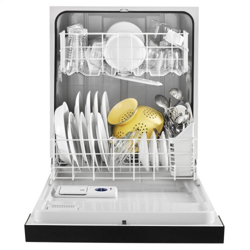 Heavy-Duty Dishwasher with 1-Hour Wash Cycle Black