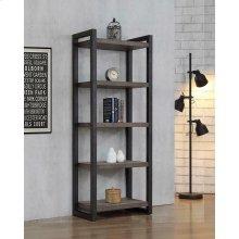 "Luke Weathered Oak 70"" Bookcase"