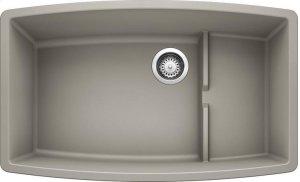 Blanco Performa Cascade Super Single Bowl - Concrete Gray Product Image
