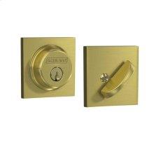 Single Cylinder Deadbolt with Collins Trim - Satin Brass