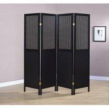 Contemporary Black Four-panel Screen