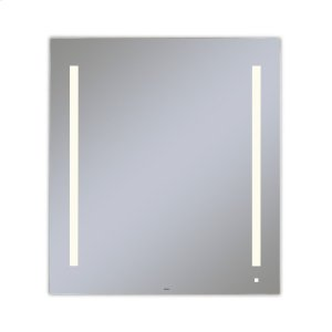 """Aio 35-1/8"""" X 39-1/4"""" X 1-1/2"""" Lighted Mirror With Lum Lighting At 2700 Kelvin Temperature (warm Light), Dimmable, Usb Charging Ports and Om Audio Product Image"""