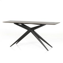 Sasha Console Table-burnt Oak/ebony